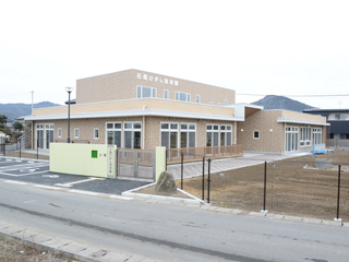 Ishinomaki-Higashi Nursery School December 2013 Construction completion. Appearance (Southeast surface)